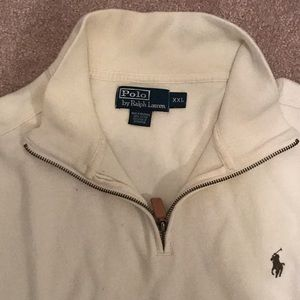Men's long sleeve Polo 1/4 zip sweater